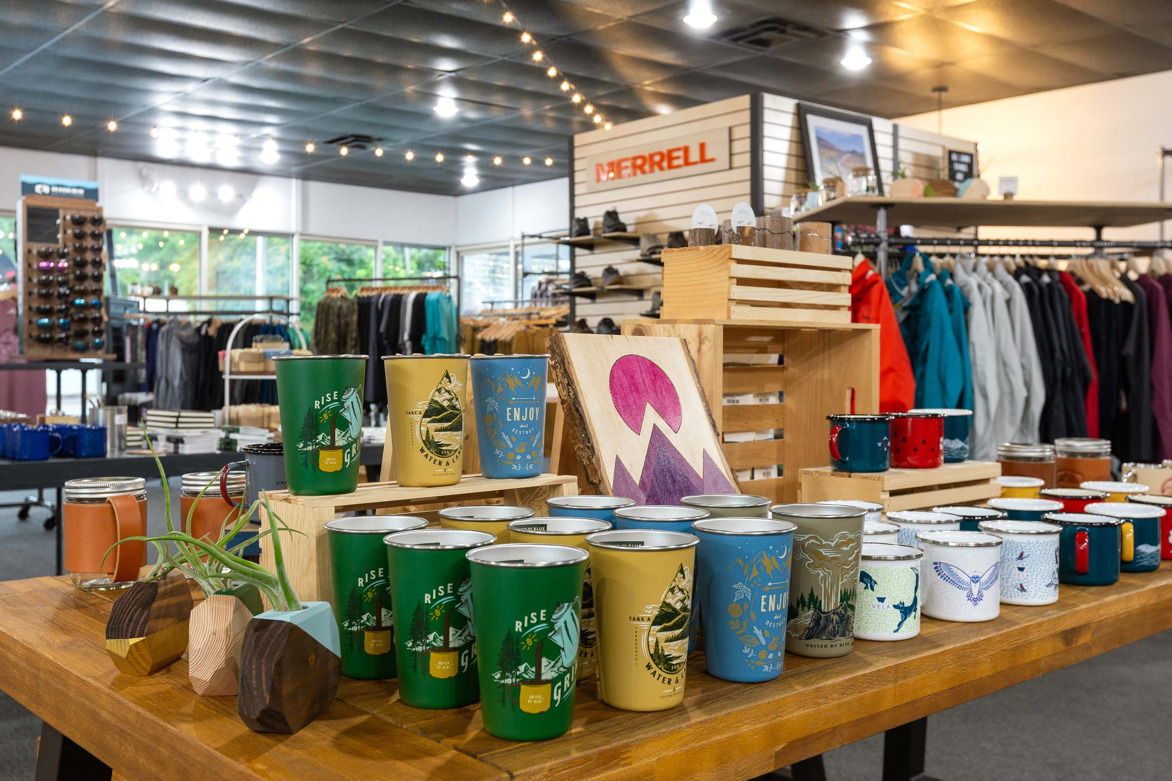 Trailful Outdoor Co is a hiking outfitter shop located near the Appalachian Trail in the North Georgia mountains