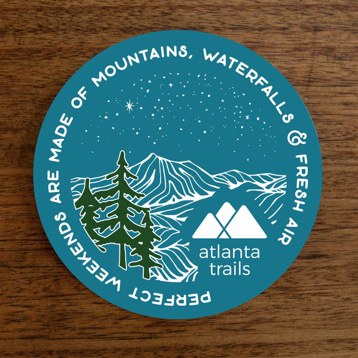 Atlanta Trails Perfect Weekends Sticker