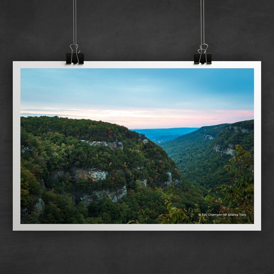 Cloudland Canyon Sunset Photo Art Print