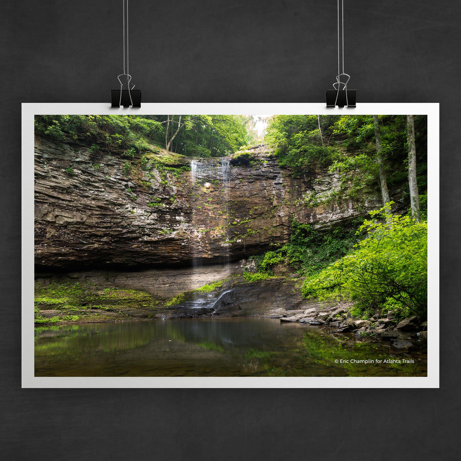 Cloudland Canyon Waterfall Photo Art Print