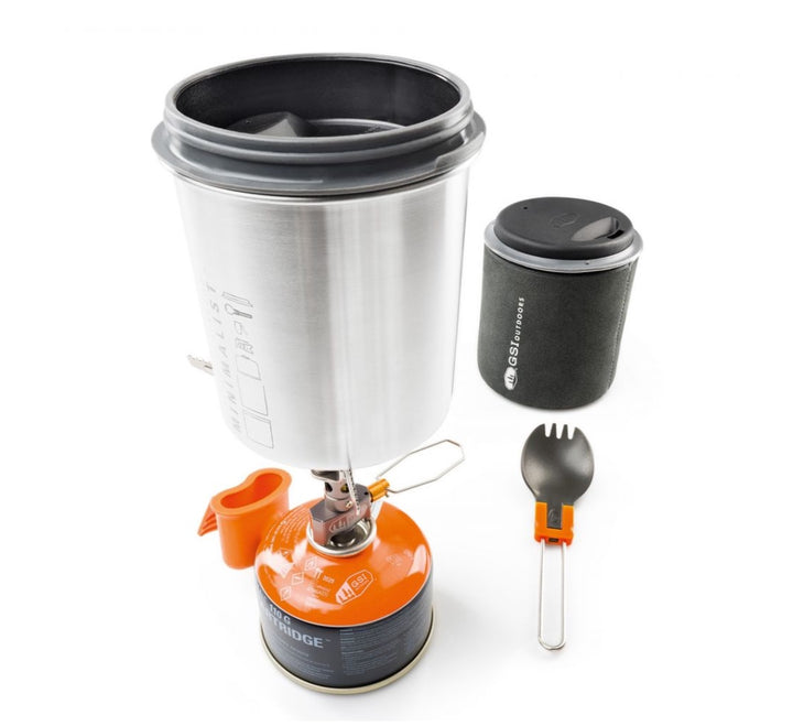 GSI Outdoors Glacier Stainless Minimalist Cookset