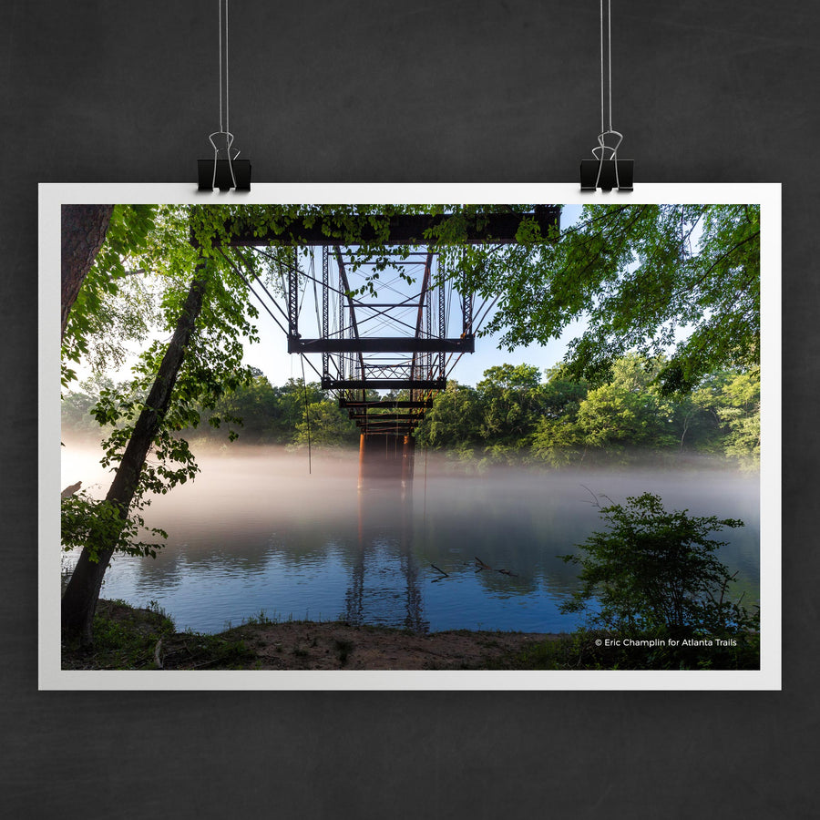 Jones Bridge on the Chattahoochee River Photo Art Print