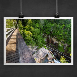 Tallulah Gorge Bridge Photo Art Print