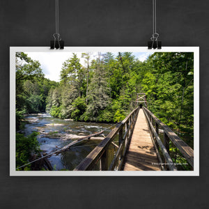 Toccoa River Swinging Bridge Photo Art Print