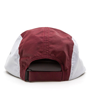 Trailful Mountain Logo Breathable Mesh Hat - Maroon / Glacier Gray