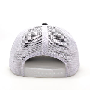 Trailful Mountain Logo Trucker Hat - Charcoal / White
