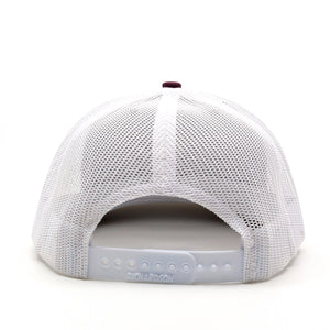 Trailful Mountain Logo Trucker Hat - Marooon / White