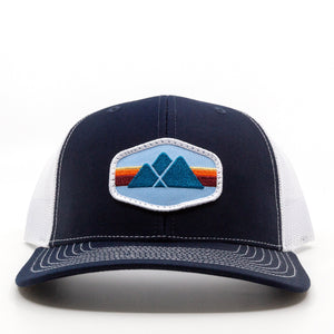 Trailful Mountain Logo Trucker Hat - Navy / White
