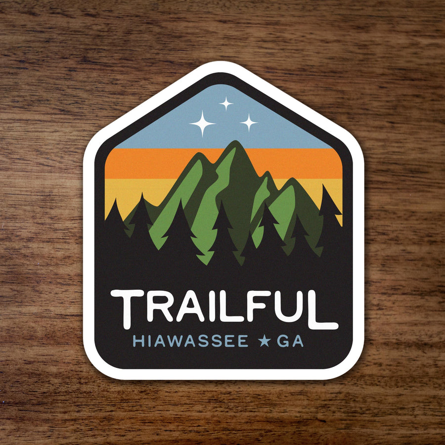 Trailful Mountains Starry Sunset Sticker