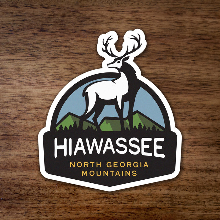 Hiawassee North Georgia Mountains Deer Sticker
