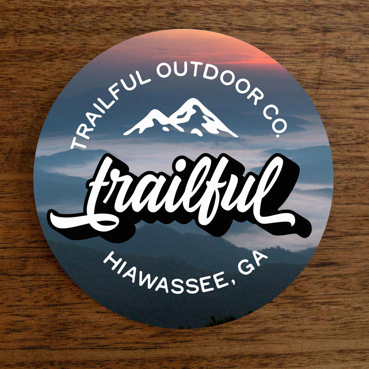 Trailful Script Sticker