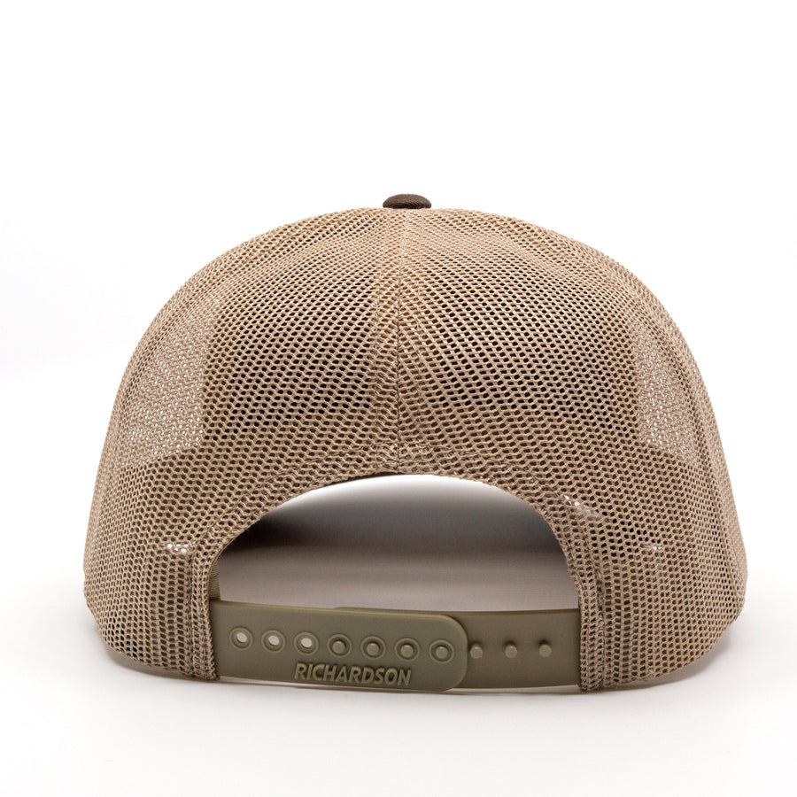 Trailful Script Trucker Hat - Brown / Khaki