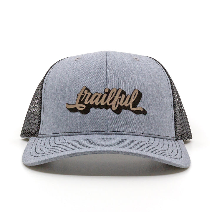 Trailful Script Trucker Hat - Heather Gray / Black