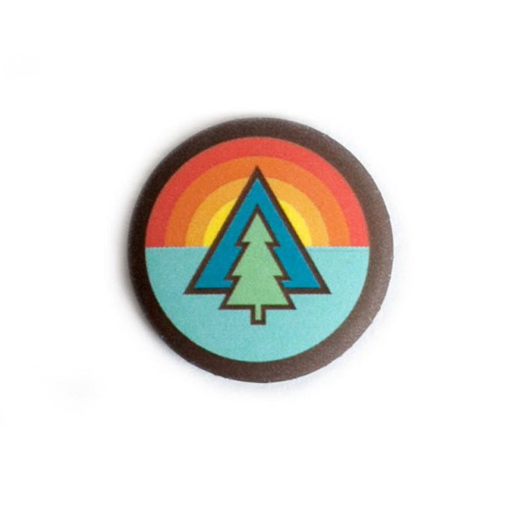 Tree Sunrise Button