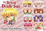 The 7 Deadly Sins Nanatsu no Taizai Epoxy Key Chain Charms
