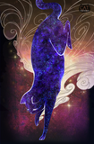 Galaxy Starry Cat Art Print