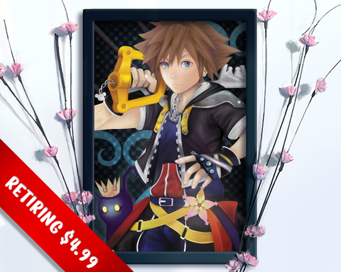 [RETIRING] Kingdom Hearts Sora and Heartless Fan Art Print
