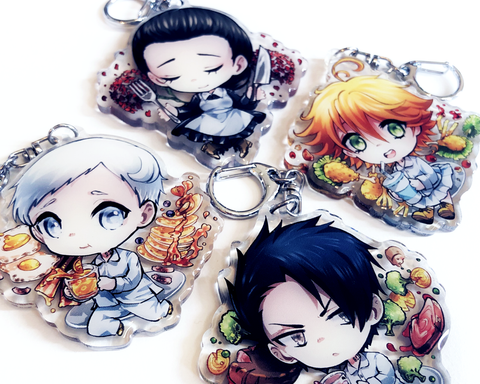 The Promised Neverland Epoxy Key Chain Charms