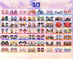 Choose Any 3 Anime Acrylic Charm Key Chains