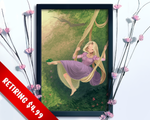 [RETIRING] Tangled Rapunzel The Swing Fragonard Fan Art Print