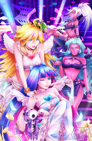 Panty & Stocking with Garterbelt Fan Art Print