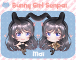 Rascal Does Not Dream of Bunny Girl Senpai Mai Epoxy Key Chain Charm