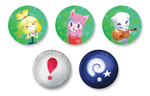 Animal Crossing New Leaf 1.5 Inch Pin Back Button Set