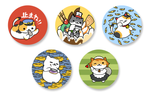 Neko Atsume Kitty Cat Collector 1.5 Inch Pin Back Button Set