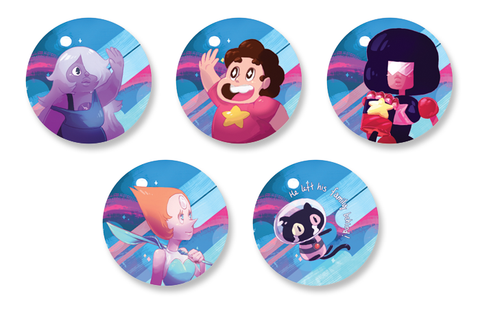 Steven Universe 1.5 Inch Pin Back Button Set