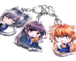 Fruits Basket Epoxy Key Chain Charms
