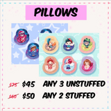 Multiple Plush Pillows