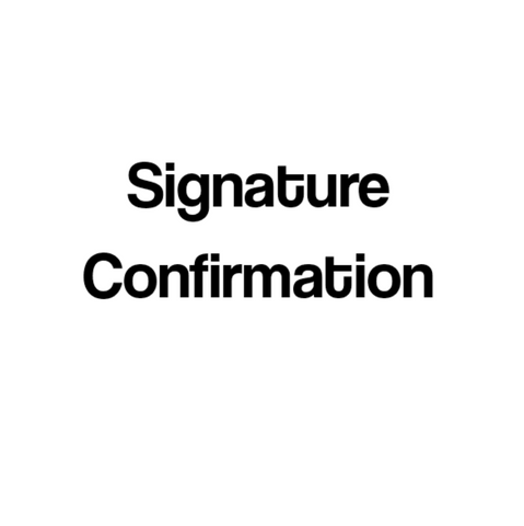 Shipping Options (Signature Confirmation)