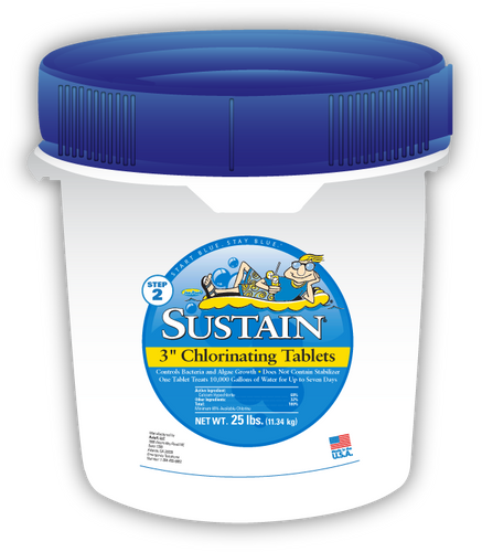 Sustain 3-inch Blue Chlorinating Tablets
