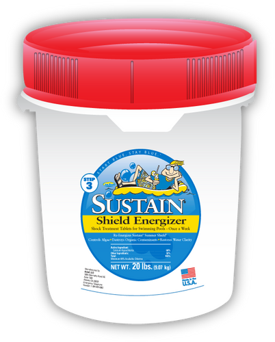 Sustain ¾-inch Blue, Shield Energizer Tablets