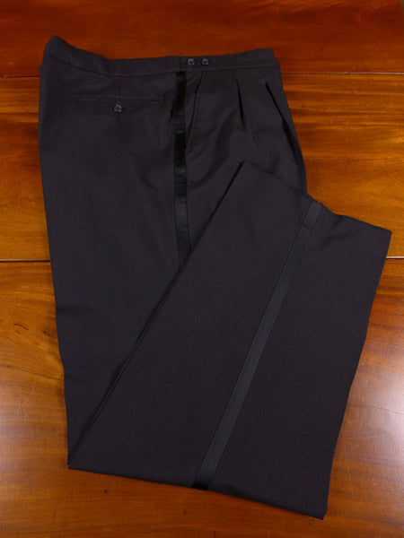 0207/993 quality lightweight ex-hire black wool mix evening dinner suit trouser - selection of sizes