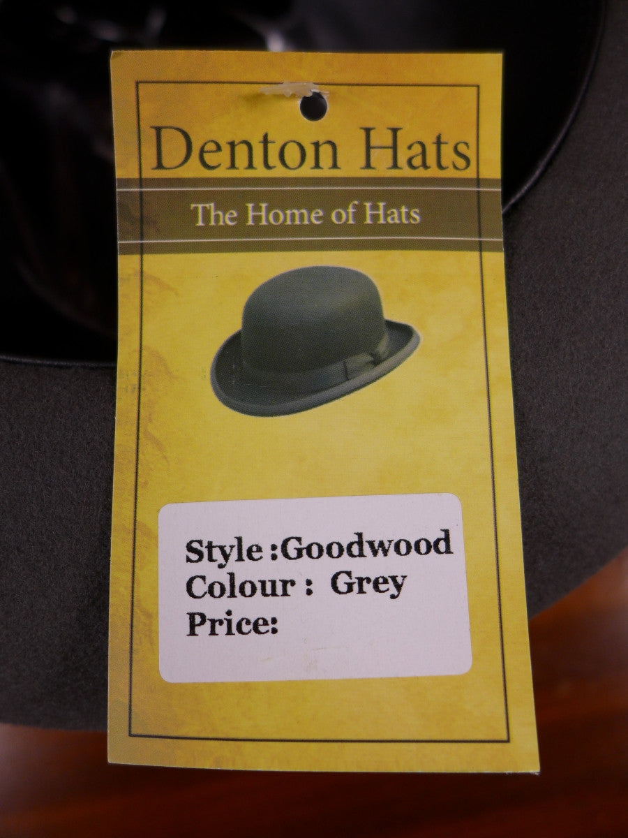 NEW DENTON HATS HAND MADE GREY WOOL FELT TRILBY 56-62 CMS