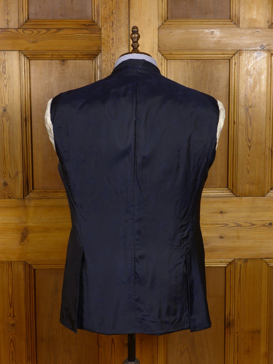 17/0188 vintage brioni luxury italian wool navy blue d/b blazer 41-42 short