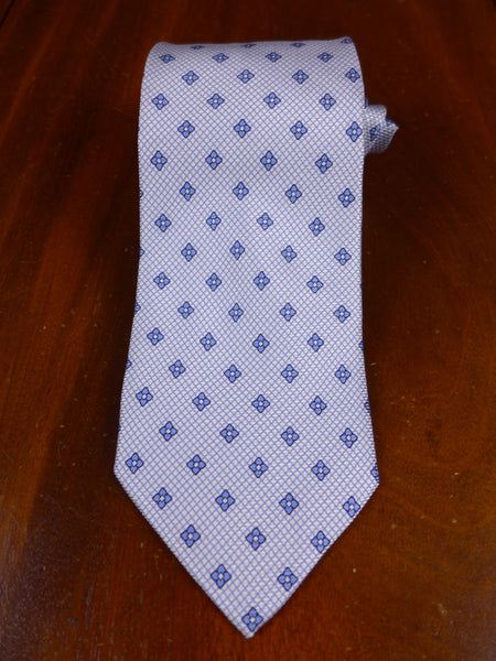 17/0105w immaculate faconnable blue flowers 100% silk tie