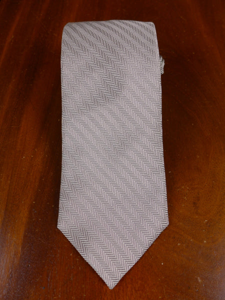 17/0105f immaculate faconnable silver striped 100% silk tie