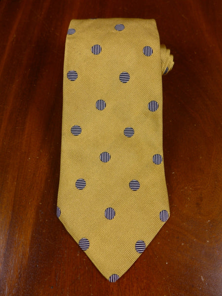 17/0746 faconnable gold / polka dot pattern silk tie