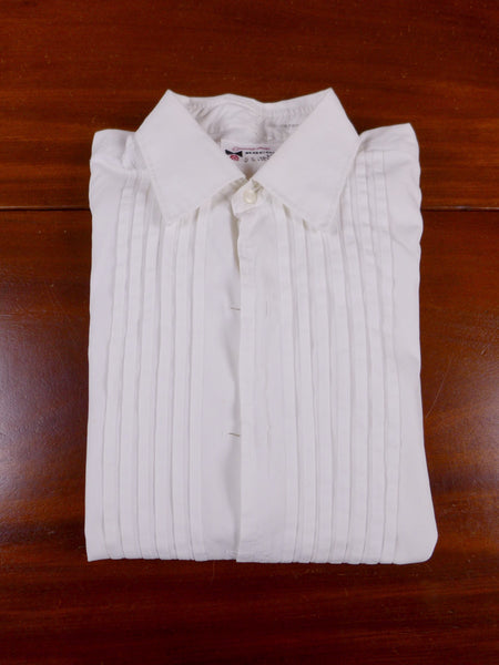 17/0193 genuine 1960s vintage rocola london white pleat front evening dress shirt 14.5