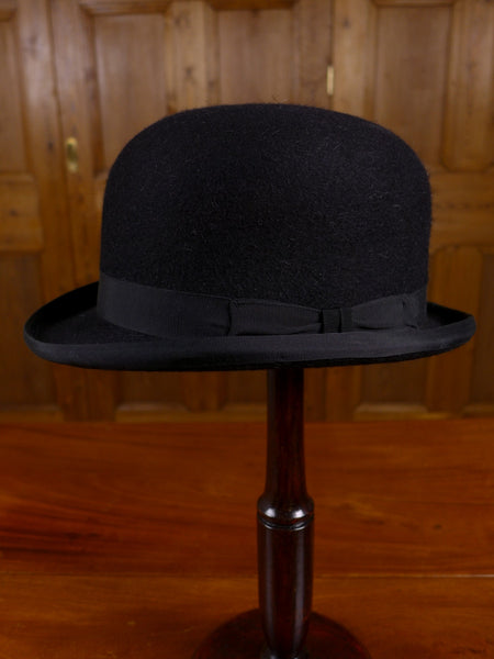 17/0158 (PT) immaculate lock & co extra firm coke black bowler hat uk 7 / 57cms RRP £325