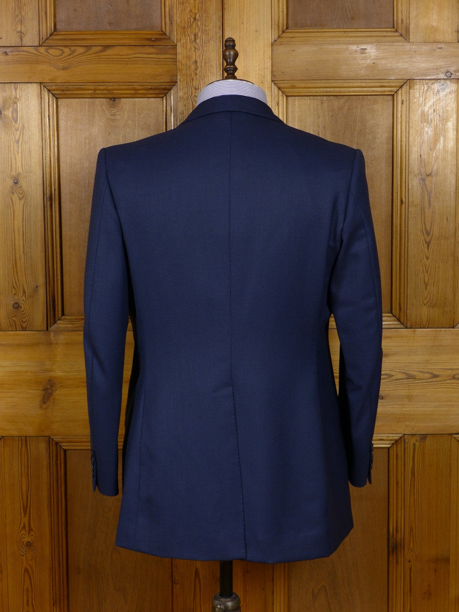 17/0161 (pt) dege & skinner 2002 savile row bespoke  blue worsted suit 42-43 short to regular