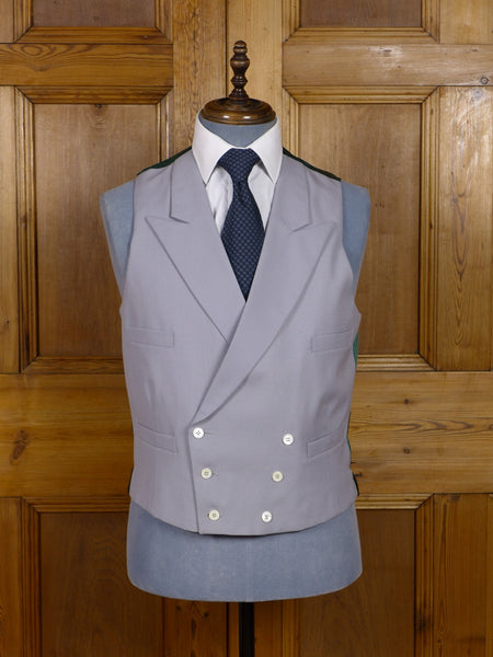 17/0169 (pt) immaculate pakeman catto carter dove grey d/b worsted morning waistcoat 41 regular