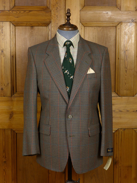 17/0226 new w/tags rrp £159 magee brown gun club check tweed sports jacket 40 regular
