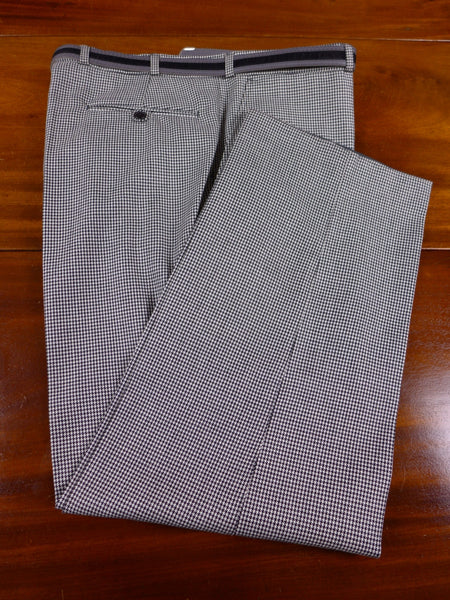 17/0309 new w/tags rrp £75 skopes black & white dogtooth check wool mix trouser w/ belt 40 short