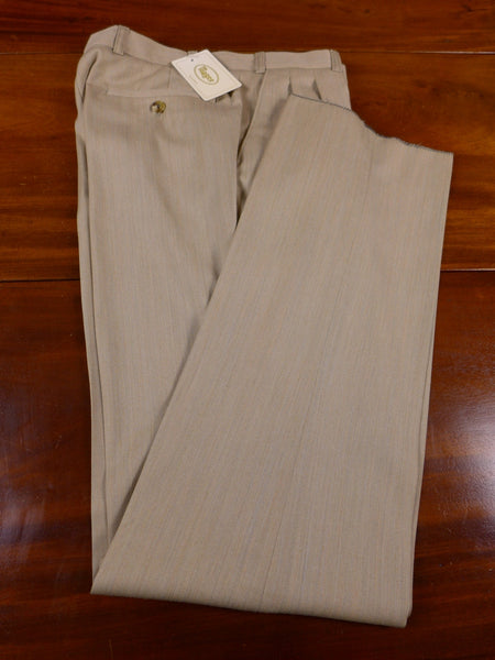 17/0311 new w/tags magee solaro-style 2-tone beige lightweight wool trouser 32 short regular long