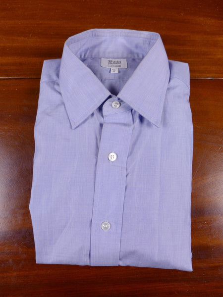 17/0730 17/0354 (pt) new rrp £135 budd piccadilly arcade pale blue double cuff cotton shirt 16 / 32