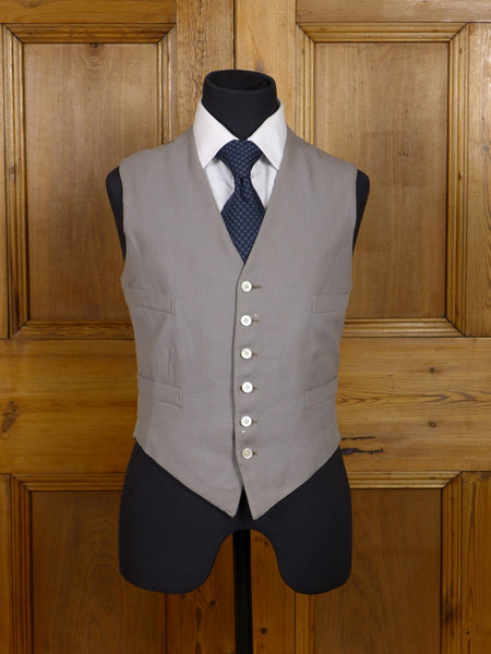 17/0374 vintage 1927 savile row bespoke dove grey morning waistcoat 35 short to regular