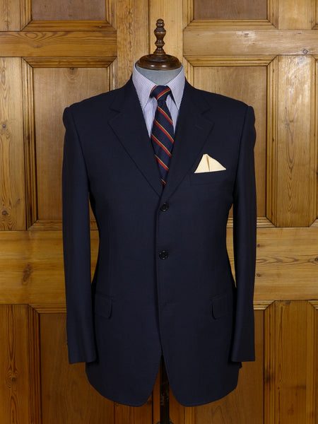 17/0393 immaculate t. fox & co waffle knit navy blue blazer 42 regular